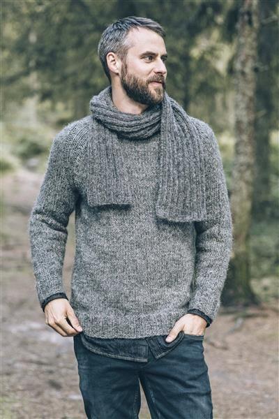 1414: Modell 17 Raglangenser #Tweed #strikk #knit