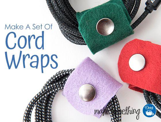 No-Sew Project: Make a Set of Cord Wraps