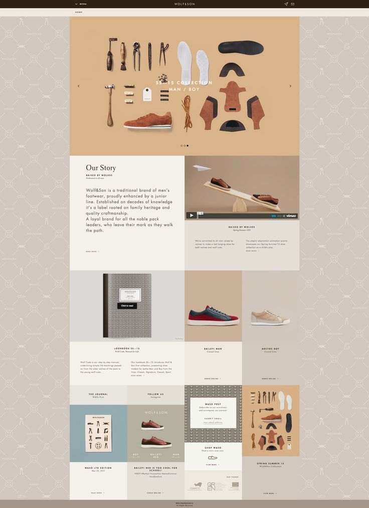 Wolf and Son website