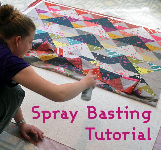 Spray Basting Tutorial from Gotham Quilts