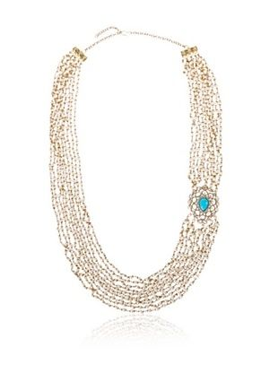 66% OFF Blossom Box Blue Brooch Gatsby Necklace