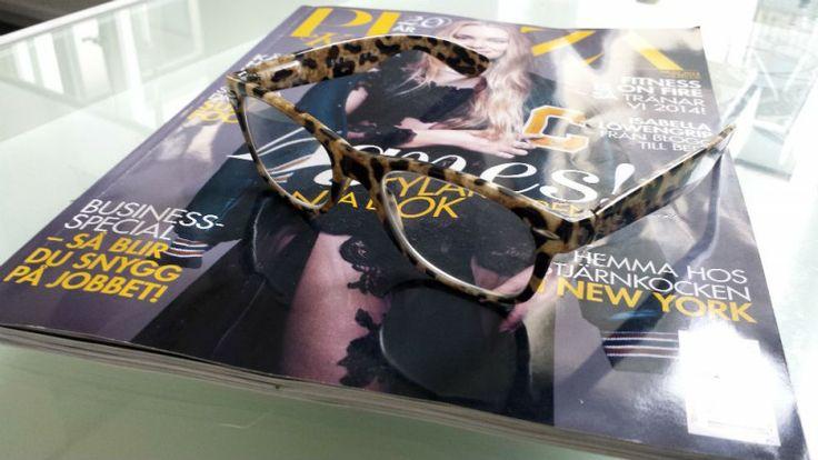 Leopardmönstrade läsglasögon från Loveyewear.se