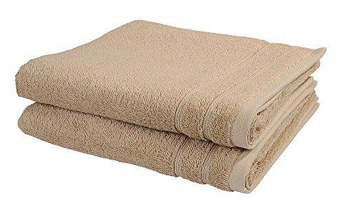 Vossen Handtuch Set 2-tlg. New Generation 100% Baumwolle 2 Badet�cher 50 x 100 cm, braun