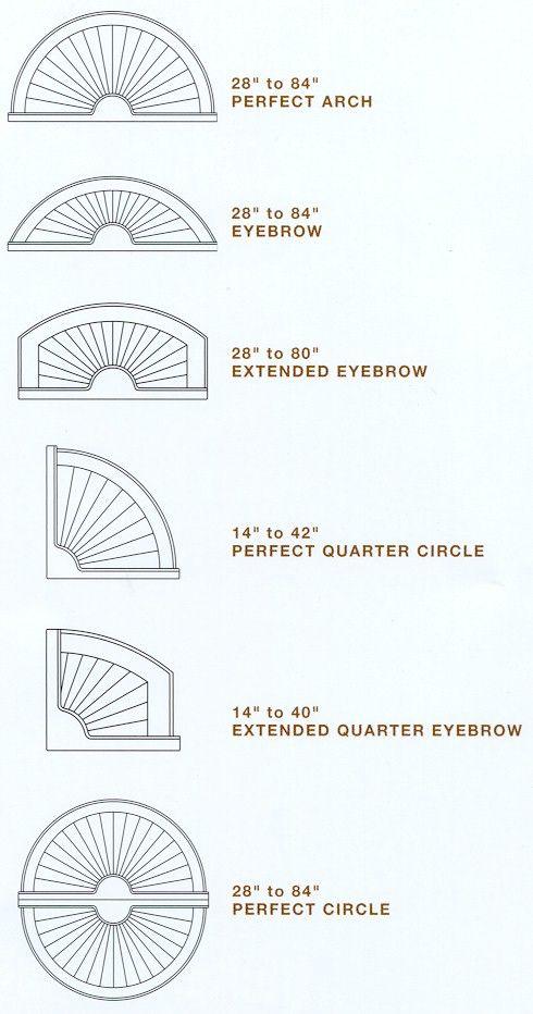 Hunter Douglas Bridgeway Specialty Shapes Eyebrow Arch