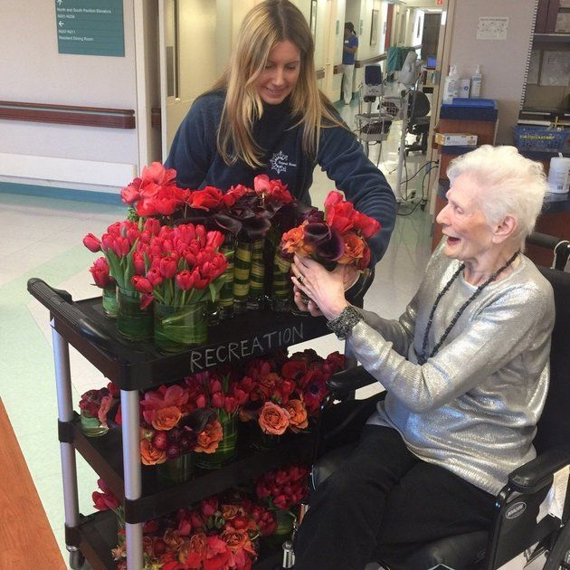 """Repeat Roses"" arranges to pick up leftover blooms from events and weddings and donates them to nursing homes, hospitals and other places where they'll bring the most joy."