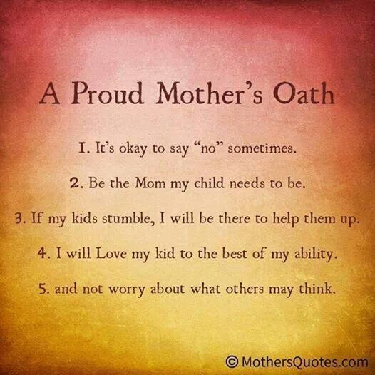 A Proud Mother's Oath (With images) Love my kids, My