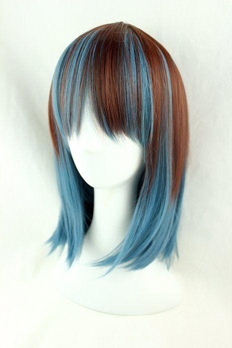 Anime Wig Synthetic Short Afro Kinky Wavy Hair Lolita Wig Ombre Hair Heat Resistant Peruca Pelucas Cosplay Harajuku Anime Wig