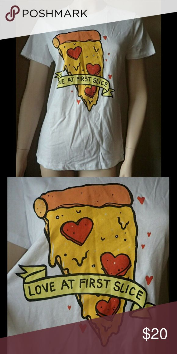 A. Lab Love At First Slice Pizza Shirt M - New 🆕 Brand new, never worn, no damage.  👍 Smoke-free, pet-free household.   🚫 No trades/swaps!  🚫 No holds!  🚫 No low-balling!  🚫 No PayPal!   ✔ Reasonable offers welcomed! Please use the offer button so I know you are serious about the item! I will not respond to price negotiations via comments.  ✔ I love bundling! Not only will you get ONE shipping fee, I will also discount your combined total! Please ask me in the comments!  😜 Happy…
