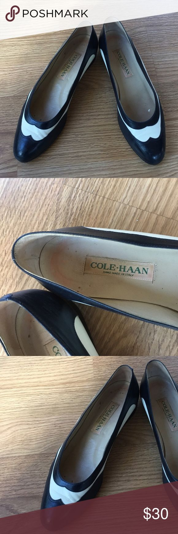 Cole-Haan Spectator Shoe Cole-Haan Navy and white spectator Shoe.  Fairly worn.. Cole-Haan Shoes Flats & Loafers