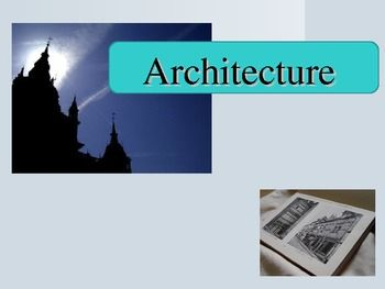 This 48 slide PowerPoint covers 17 Architecture vocabulary terms. A quiz is included for students to use as a pretest or final assessment. The assessment can also be used to guide the presentation.