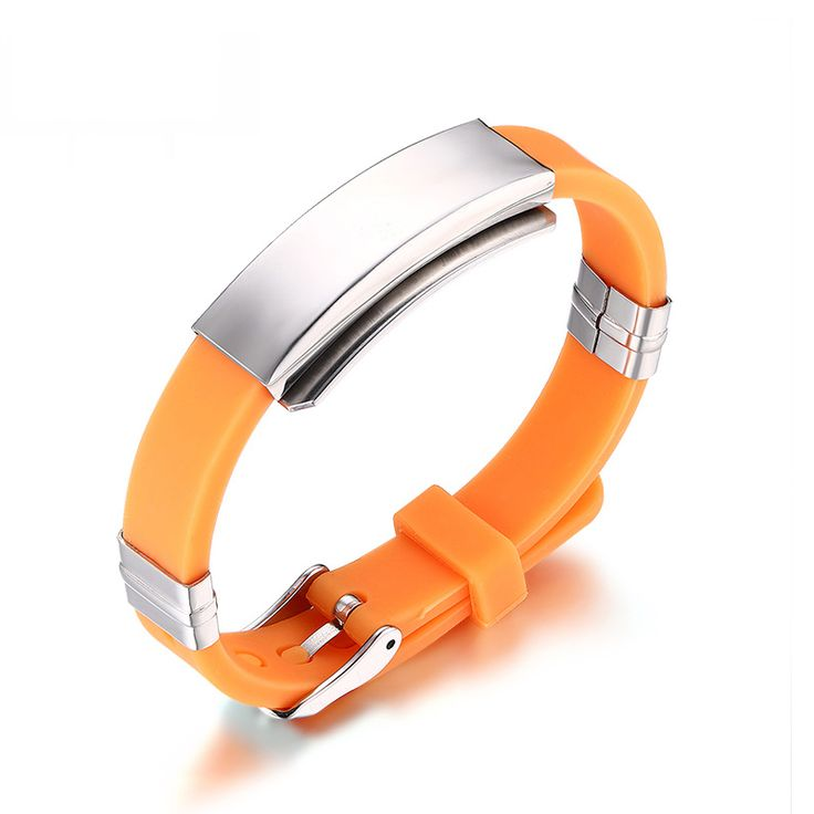 2016 Timed promotions Adjustable Silicone Bracelet Bangle Rubber Sports Wristband Jewelry
