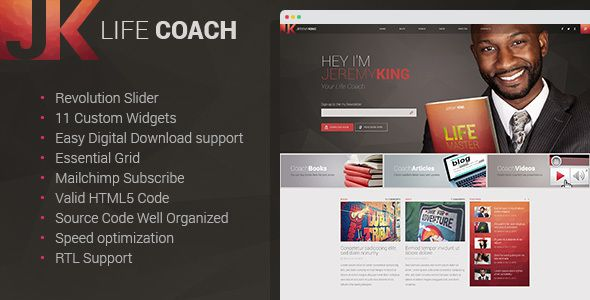 Life Coach is a simple WordPress theme that would be a perfect solution for a website of a personal life coach. The theme has user-friendly and intuitive interface design, lots o...