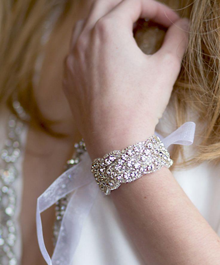 Austine Crystal Bracelet - Handmade - $30