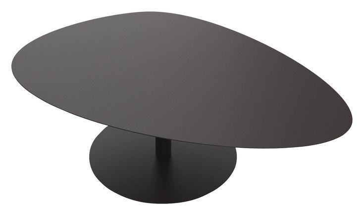Table basse Galet XL / 80 x 120 - H 39,4 cm Noir - Matière Grise - Décoration et mobilier design avec Made in Design