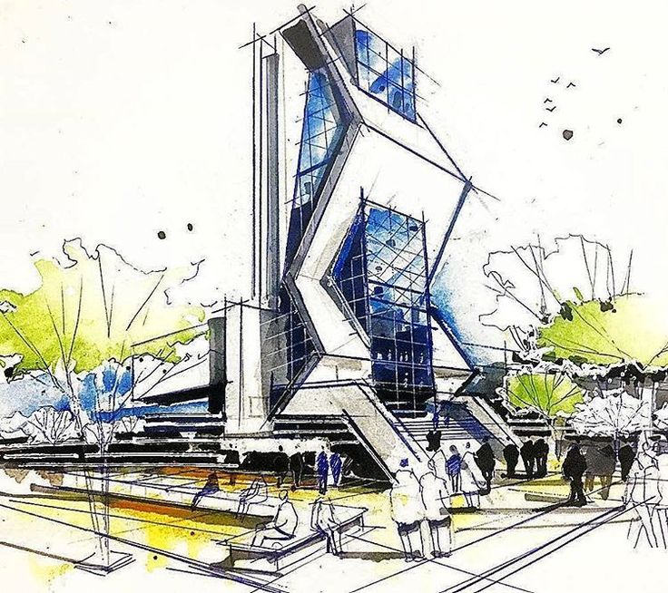 Best Inspiration Idea Architectural Sketchs Images On