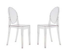 PHILIPPE STARCK STYLE VICTORIA GHOST CHAIRS  Set of 2 $189