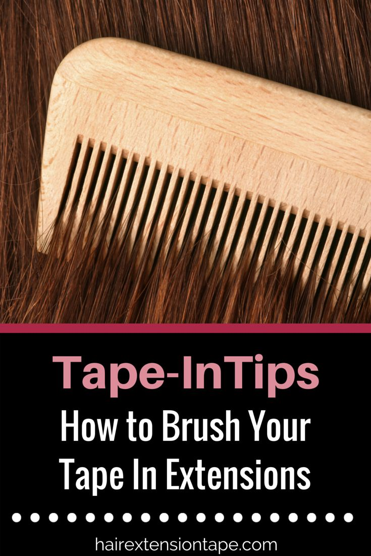 You might not know this but, there are a few steps you should be following when brushing your tape-in extensions!