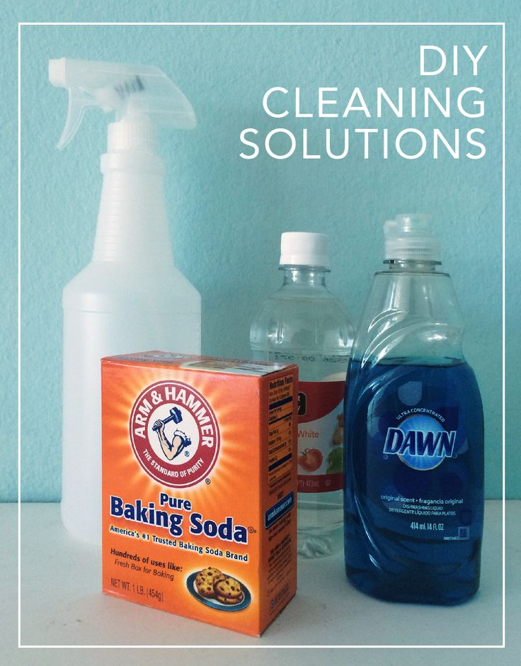 Make your own cleaning solutions without using harsh chemicals