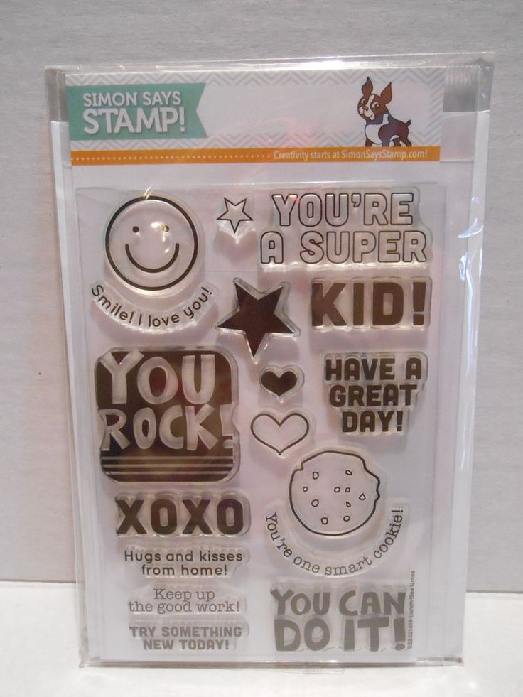 Simon Says Stamp Photopolymer Stamps & Dies ~ LUNCH BOX NOTES ~ NEW #SimonSaysStamp