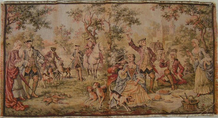 Vintage Belgium Made English Victorian Hunting Scene