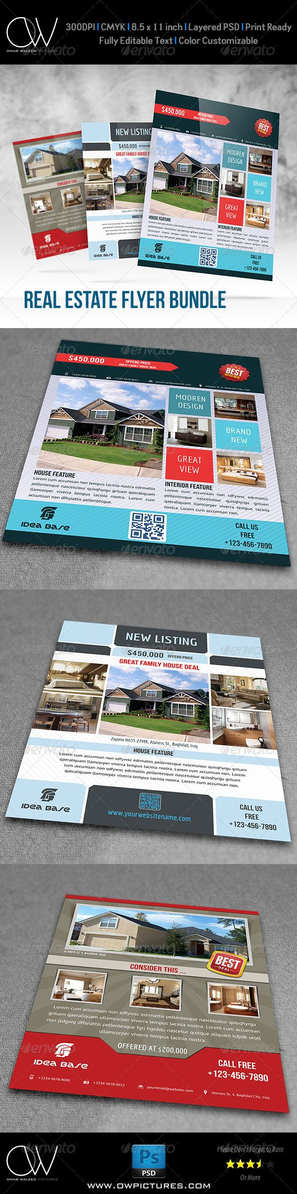 17 best images about real estate brochures flyers real estate flyer bundle template vol 1
