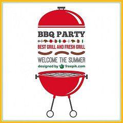 Barbecue Party Invitation Free Vector (eugenejoe414) Tags: party summer food illustration vintage poster cuisine graphics graphic image fastfood sausage fast fresh best meat retro grill delicious invitation card barbecue elements snack meal hungry taste template element summerparty