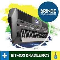Teclado Yamaha Psr S670 Psrs670 + Fonte Bivolt + Nf