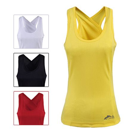 2014 New Ourdoor Wholesale Women Tank Tops 100%Polyester Quick Dry At-UV Gym Vest Sleeveless T-shirts 132D079B