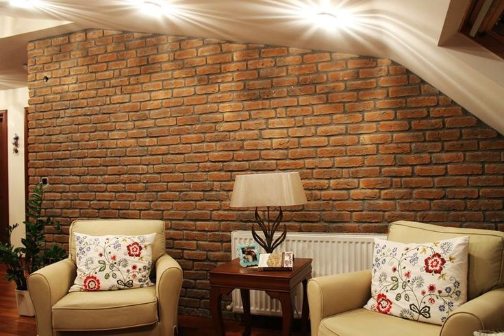 Fabulous Memphis Red Brick Slips used for a lounge refurb