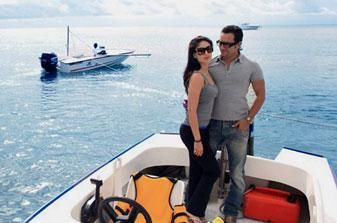 Saif and Bebo in Mauritius | PINKVILLA