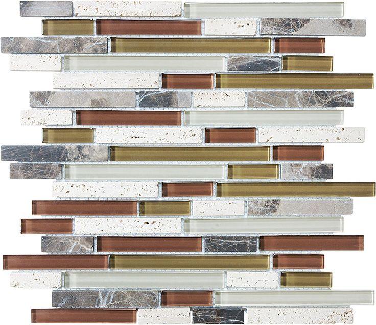 Cabernet Glass Stone Linear Blend Mosaics 35 013 Profiletile Bliss Glass Stone Mosaics