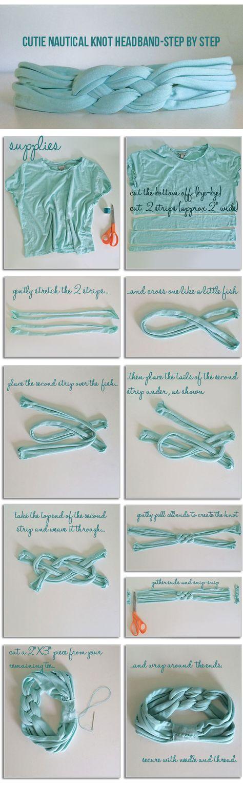Instructions: DIY Nautical Knot Headband