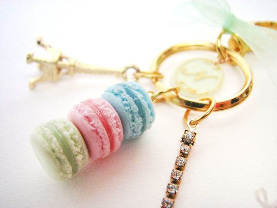 Laduree green alphabet charm with eiffel tower a trio of by xunnux,