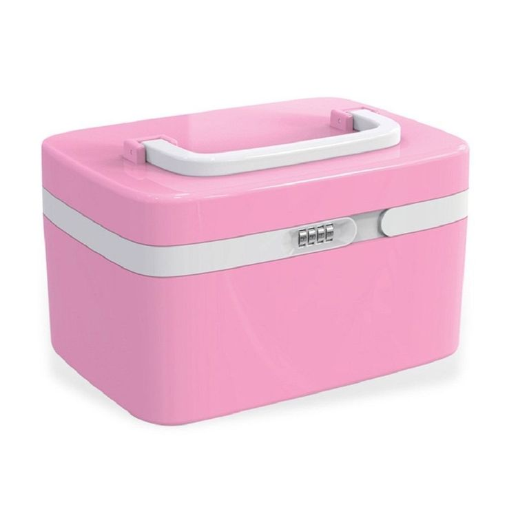 Combination Lock Medicine Cabinet Organizer First Aid Kit Compartments Pink New | Health & Beauty, Health Care, Pill Boxes, Pill Cases | eBay!
