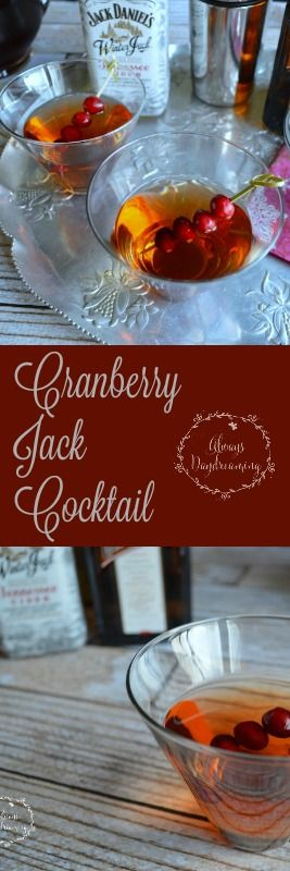 Jack Daniels Winter Jack Cider, cranberry juice, and Cointreau make a ridiculously easy and perfect-for-the-holidays cocktail.