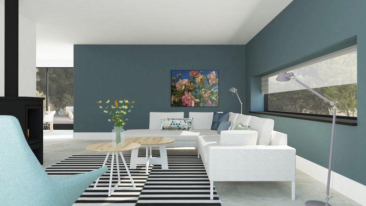 Modern interieur, kleur petrol   Adrianne van Dijken Interieuradvies