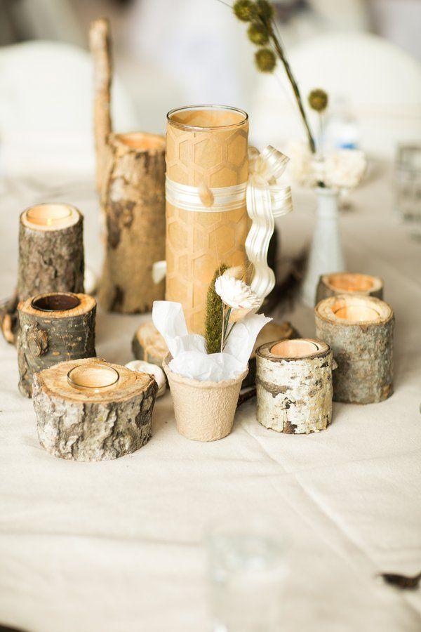 Wood Wedding Table Decorations