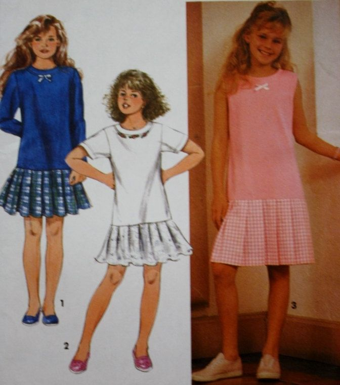 Girls Dress Sewing Pattern Simplicity 7895 UNCUT Size 12 14 By BluetreeSewingStudio