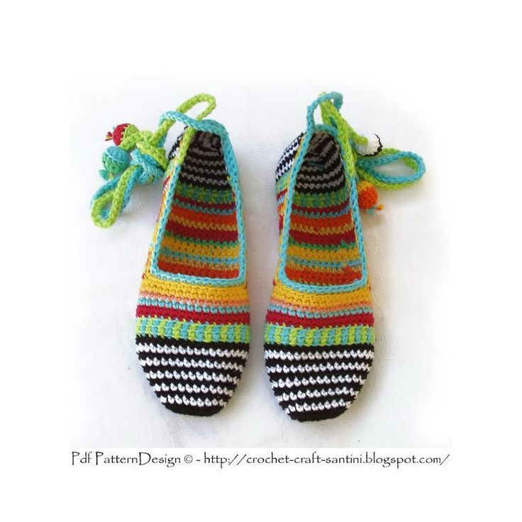 ADULTHappy Scrap Crochet Slippers-Basics pattern on Craftsy.com