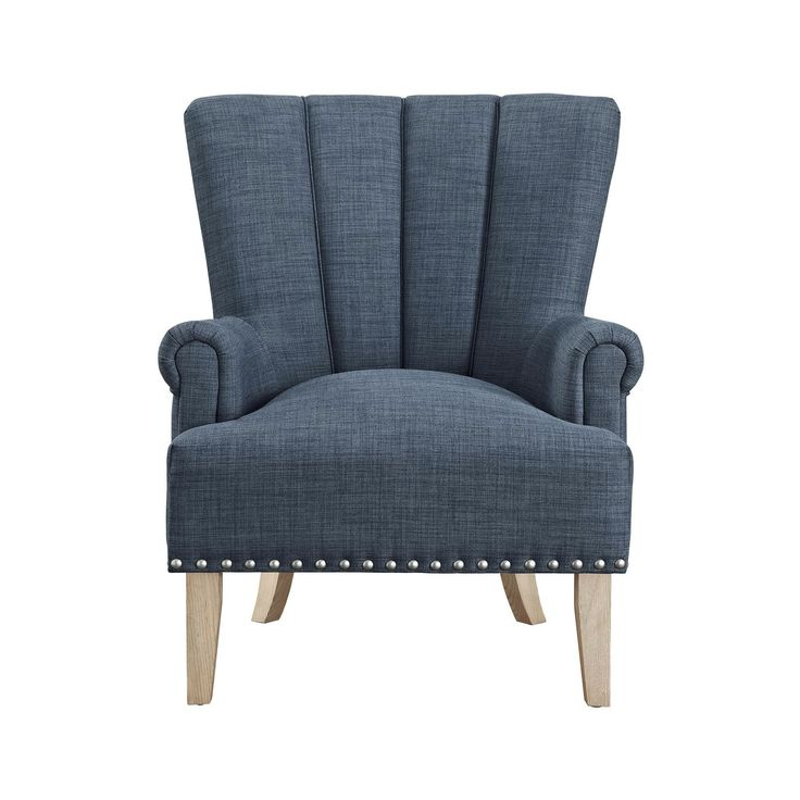 Best Atlas Accent Chair Blue Dorel Living *D*Lt Unisex 400 x 300