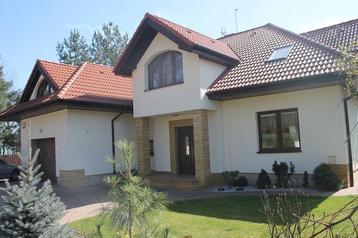 Widok frontu  #dom #front #budowa