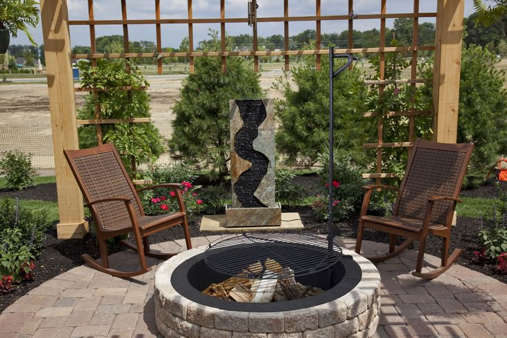 The #new #sleek and #stylish Solid Steel Fire Ring from Pleasant Hearth! Makes the perfect liner for a stone pit or great on it's own! http://www.ghpgroupinc.com/product-details/OFW419FR.html