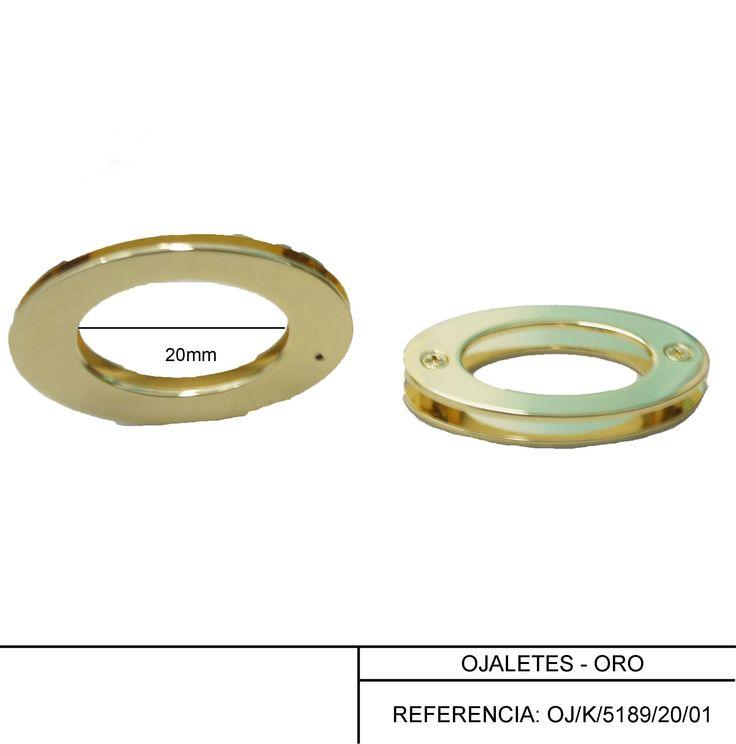 Ojaletes de 20 mm en oro