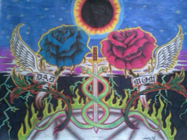 #rose #art #mystic #pentagram #abstract #art