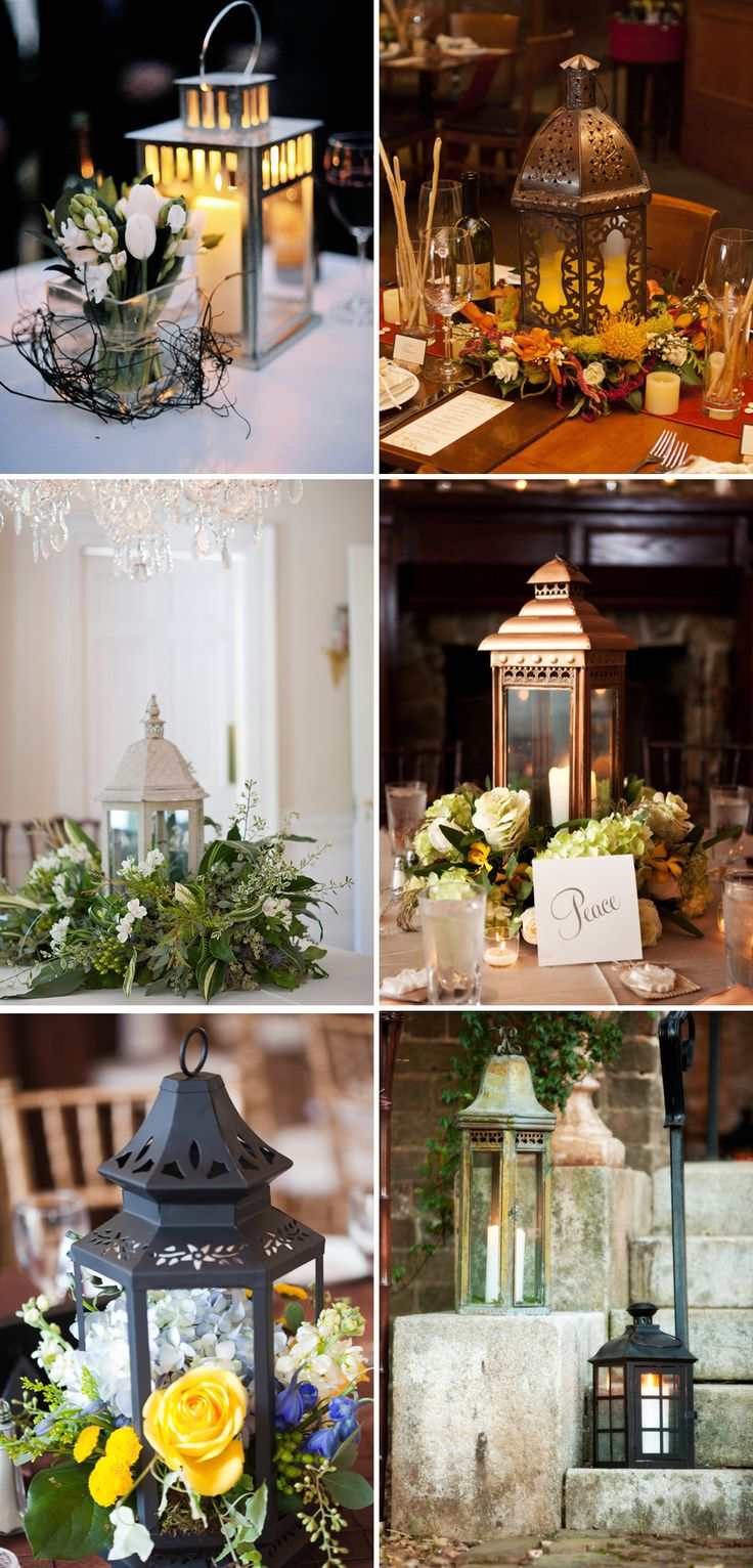 lantern centerpieces? Ikea has some good white ones. Maybe on some tables? or at head table?