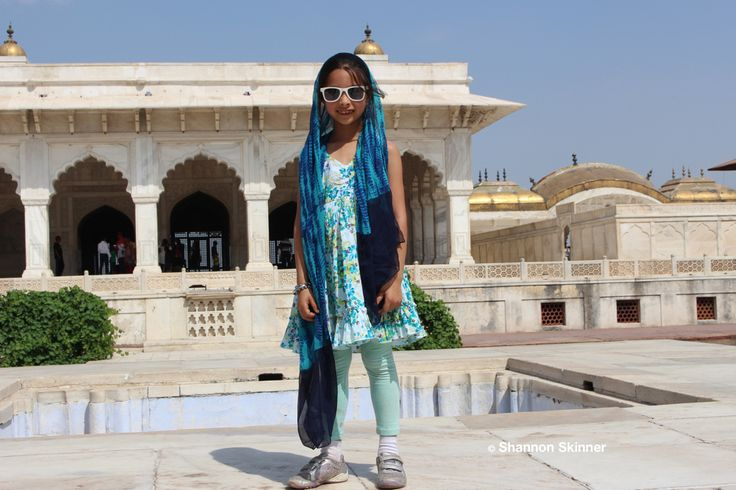 Little fashionista in Agra, India.