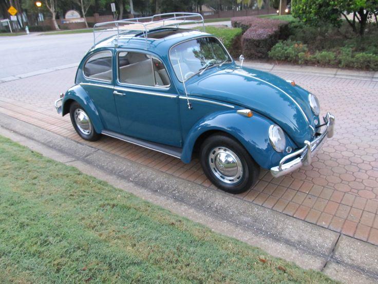 1966 Sea Blue Vw Beetle For Sale Oldbug Com: A Nicely, Restored Sunroof Bug