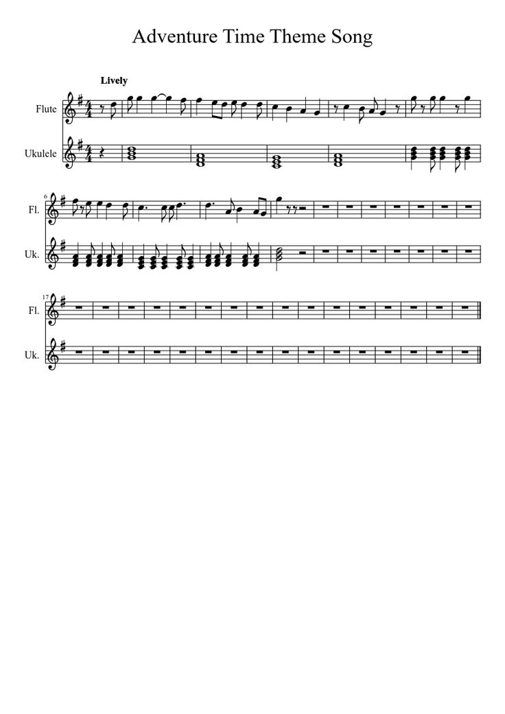Adventure Time Theme Song   MuseScore