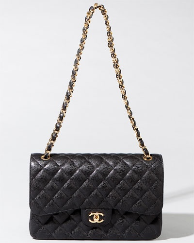 "Chanel Jumbo Black Caviar Quilted Classic 2.55 Double Flap Bag  ""Buy the best one, or don't buy it.""  that's an aphorism from my mother, and there's no way to controvert."