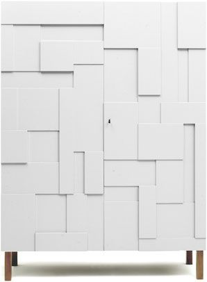 Alba Armoire by Pinch Design: Looks like a puzzle box. Available Double or Skinny.